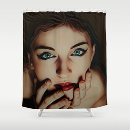 """""""The House That Glows (With Almost No Help)"""" by Jeanpaul Ferro Shower Curtain"""