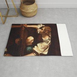 """Michelangelo Merisi da Caravaggio """"Narcissus"""" Rug"""