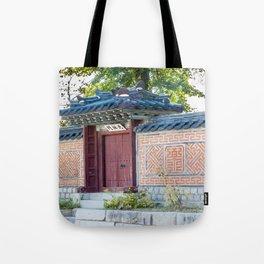 Amisan Gate & Wall, Gyeongbokgung Palace, Seoul Tote Bag