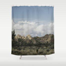 Joshua Tree in a blur Shower Curtain