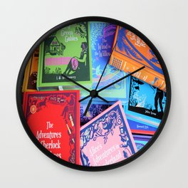 Leather Bound Classics Series - Part 3 Wall Clock