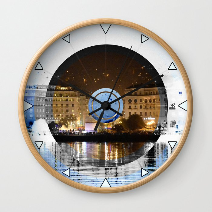Thessaloniki Square Wall Clock