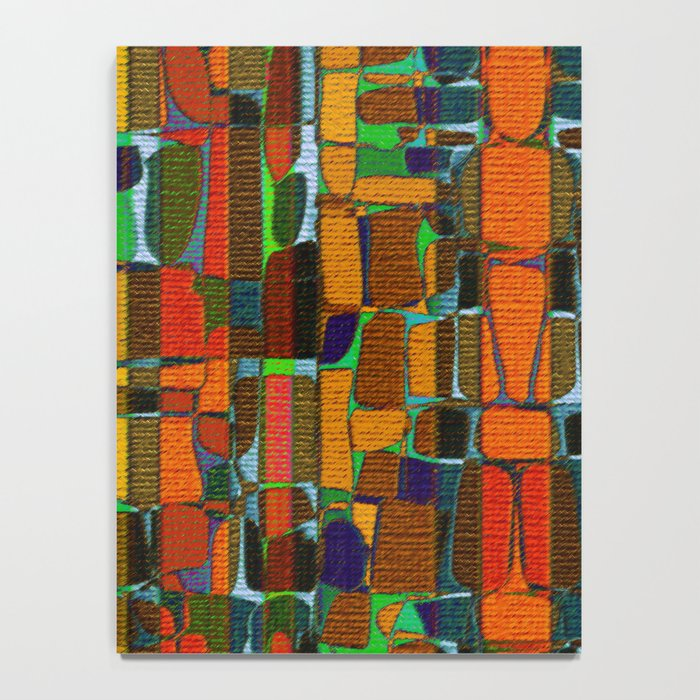Abstract Geometric Fabric Notebook