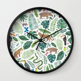 Jungle/Tropical Pattern Wall Clock
