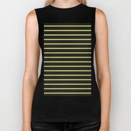 Black & Yellow Stripes Biker Tank
