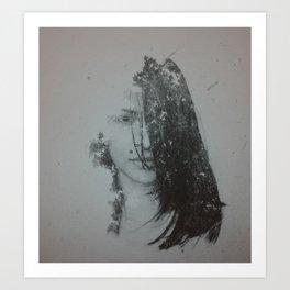 Double exposure Art (Brit 1) Art Print