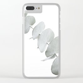 EUCALYPTUS WHITE 3 Clear iPhone Case