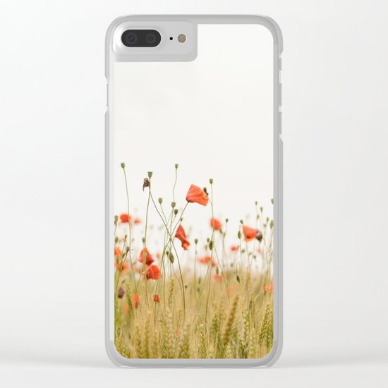 Poppies Coquelicots Clear iPhone Case