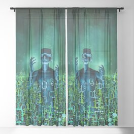 Virtual Dawn Sheer Curtain