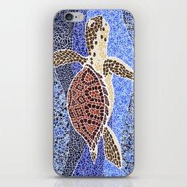 sea turtle: unity through collage iPhone Skin