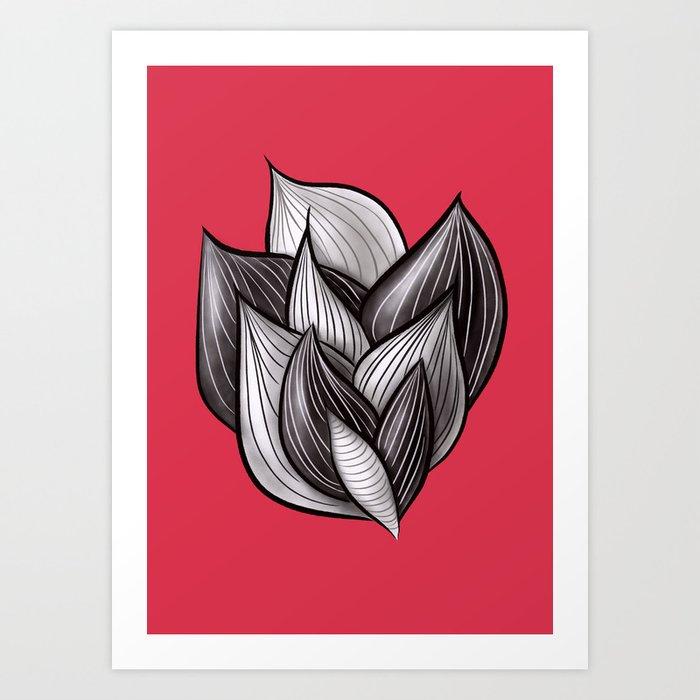 Beautiful Abstract Dynamic Shapes Art Print