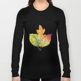 Abstract Gold Fall Foliage Symphony Long Sleeve T-shirt