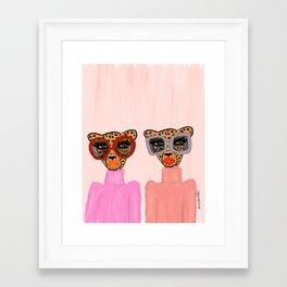 Two Cheetahs Framed Art Print