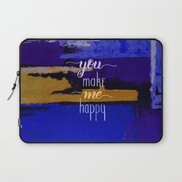 Happy Valentines day abstract gift Laptop Sleeve