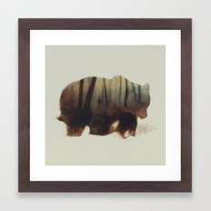 Watched By Grizzly Bear Framed Art Print
