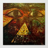 egyptian Canvas Prints featuring Egyptian equation   by Ganech joe