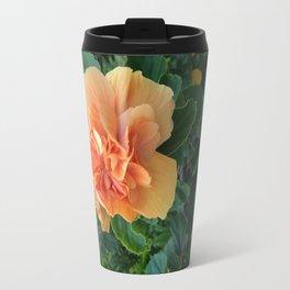 Peachy Flower Travel Mug