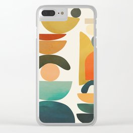 Modern Abstract Art 72 Clear iPhone Case