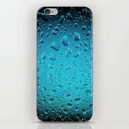 Stylish Cool Blue water drops iPhone Skin