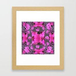 Rose Pink Rubies Gemstone July Birthstone Art Framed Art Print