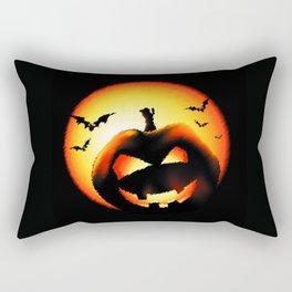 Smile Of Scary Pumpkin Rectangular Pillow