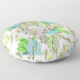 Blue Wildflowers Floor Pillow