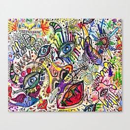 Watercolor pencil doodle Canvas Print