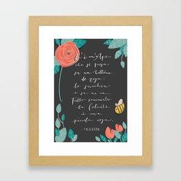 La Felicità - Trilussa Framed Art Print