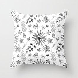 Pieces of Nature Throw Pillow