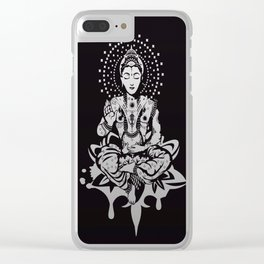 Buddha in lotus position Clear iPhone Case