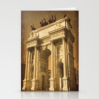 lee pace Stationery Cards featuring Arco della Pace Milan by Louisa Catharine Photography