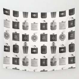 Flask Collection – Black Palette Wall Tapestry