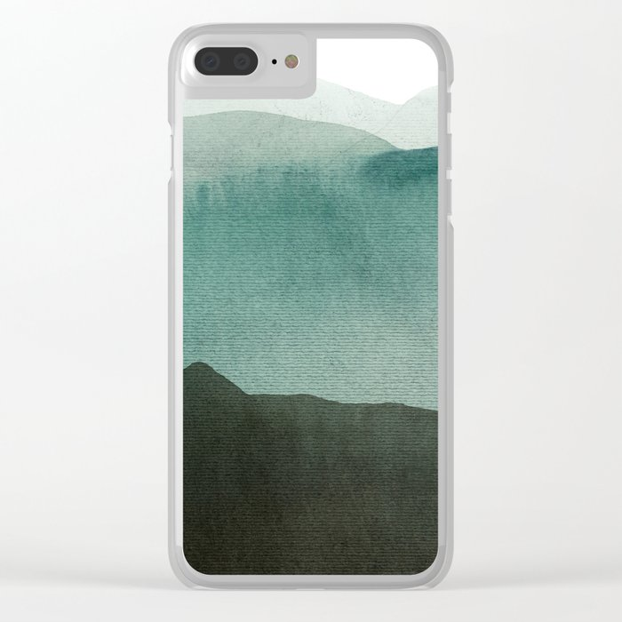Valley's deep and the mountains so high Clear iPhone Case