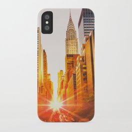 NYC Skyline Sunset iPhone Case