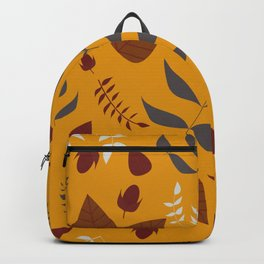 Autumn leaves and acorns - ochre and brown Backpack
