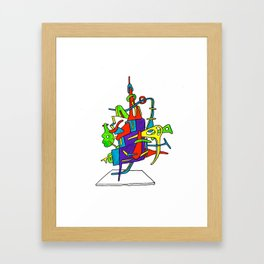 this thing Framed Art Print