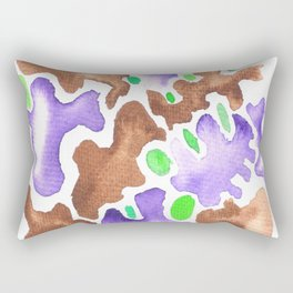 1710623 Colour Shape Watercolor 19   Abstract Shapes Drawing   Abstract Shapes Art  Watercolor Paint Rectangular Pillow
