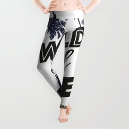 Wild and free wtreath. Palms and leopard Leggings