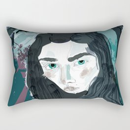 Blue Girl/Cold Shoulder Rectangular Pillow