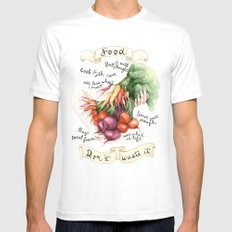 Food Poster MEDIUM Mens Fitted Tee White