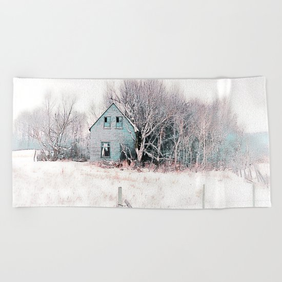 Tattered Curtains Beach Towel
