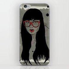 Never met a Hipster that really needs glasses iPhone & iPod Skin