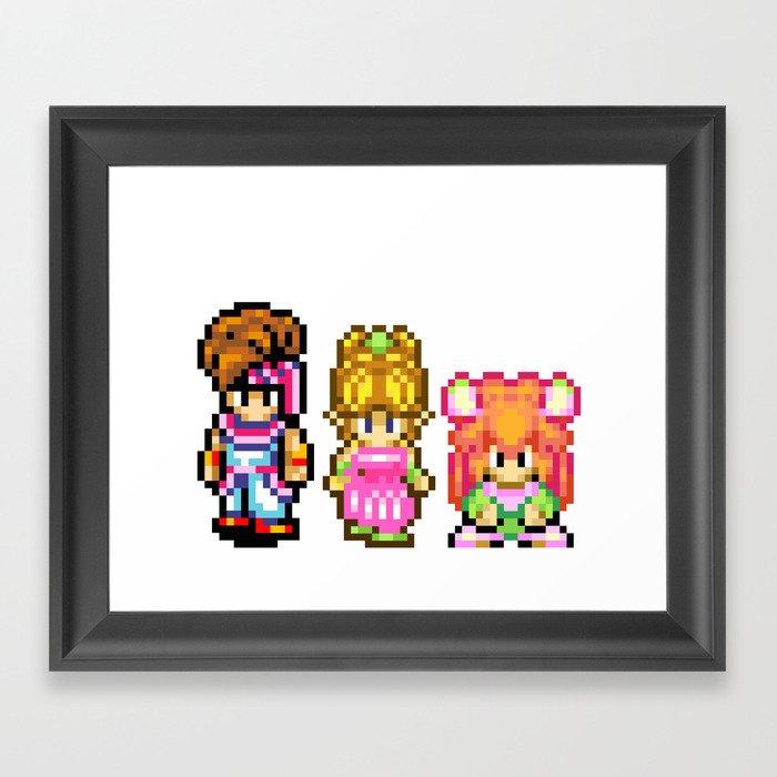Secret of Mana Characters Framed Art Print