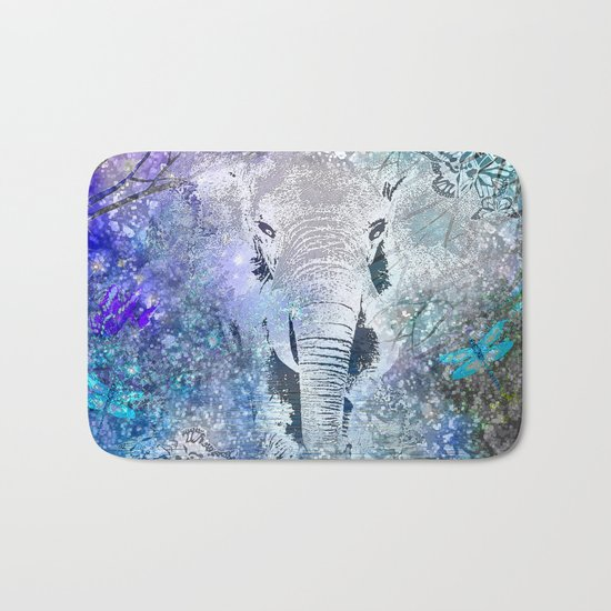 ELEPHANT IN THE STARRY LAKE Bath Mat