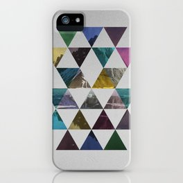 Colorful triangle pattern  iPhone Case