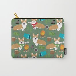 Corgi camping cute welsh corgis campfire outdoors scouts corgis must haves Carry-All Pouch
