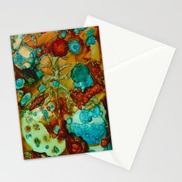 flora beginnings Abstract Stationery Cards