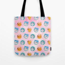 Umie & Mochi VIII - Pattern 3 - Pink Tote Bag