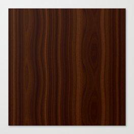 Dark Wood Texture Canvas Print