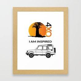 I AM INSPIRED DISCOVERY Framed Art Print